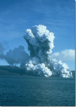 1967 Eruption at Telefon Bay